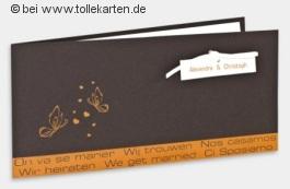 Hochzeitskarten mit neuen Ideen für das Hochzeitsjahr 2010: