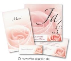 Hochzeitskarten im Set mit Rose