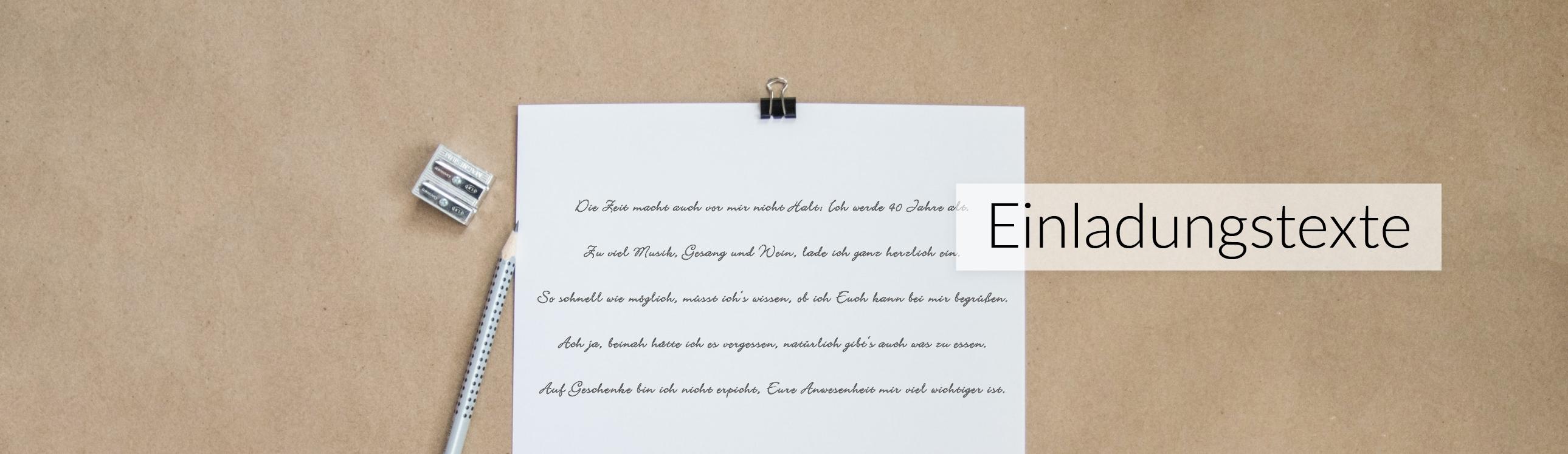 Einladungstexte Dankestexte Gedichte Textvorschlge zur