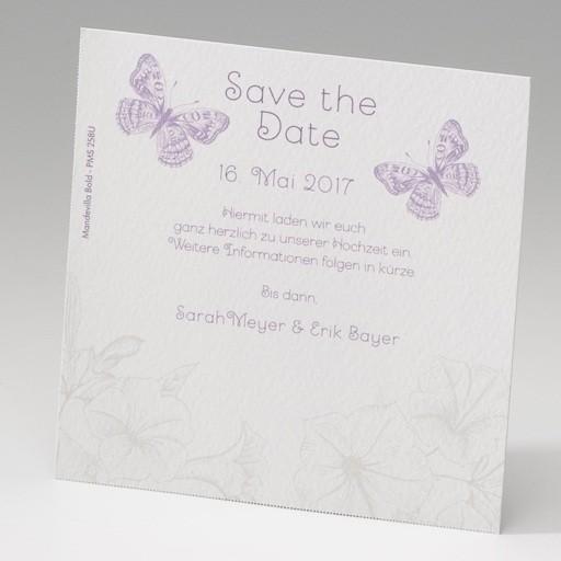 Save the date Karten zur Hochzeit mit zwei Schmetterlingen