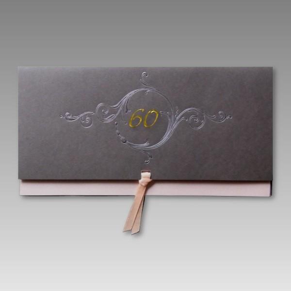 Einladung zum 60 Geburtstag voller Anmut