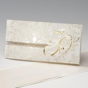 Einladungskarten Goldene Hochzeit Mit und ohne Textdruck