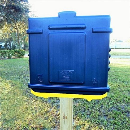 EZ Permit Box Blue and Yellow