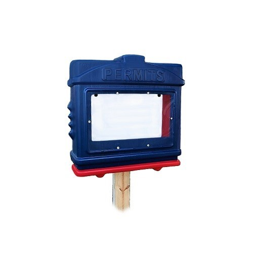 EZ Permit Box w/ Window Blue and Red