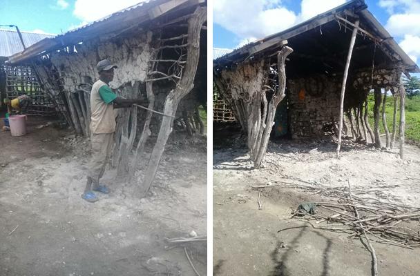 Die Menschen beginnen mit dem Wiederaufbau ihrer Häuser