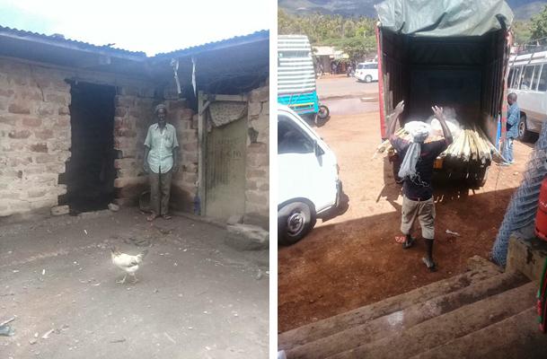 Eine Hilfslieferung für Toloha wird in Mwanga verladen