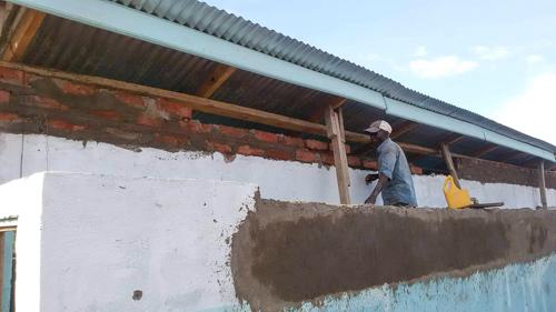 Verbesserung des Sichtschutzes am Sanitärgebäude