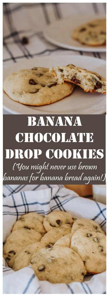 Banana Chocolate Drop Cookies // The perfectly delicious and easy way to use up all your browned bananas!