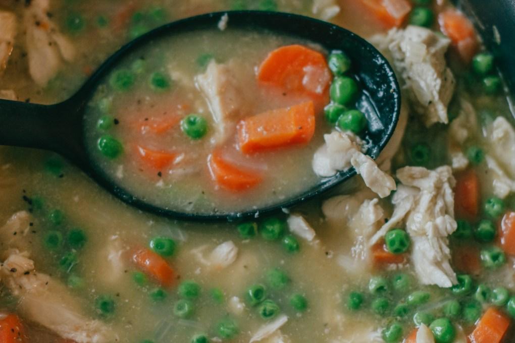 "thickened chicken soup ""gravy"""