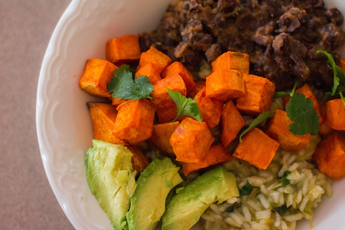 Sweet Potato + Black Bean Rice Bowls