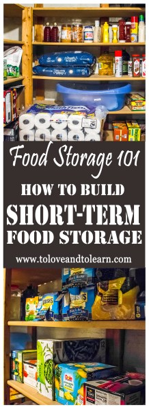 how to build short-term food storage