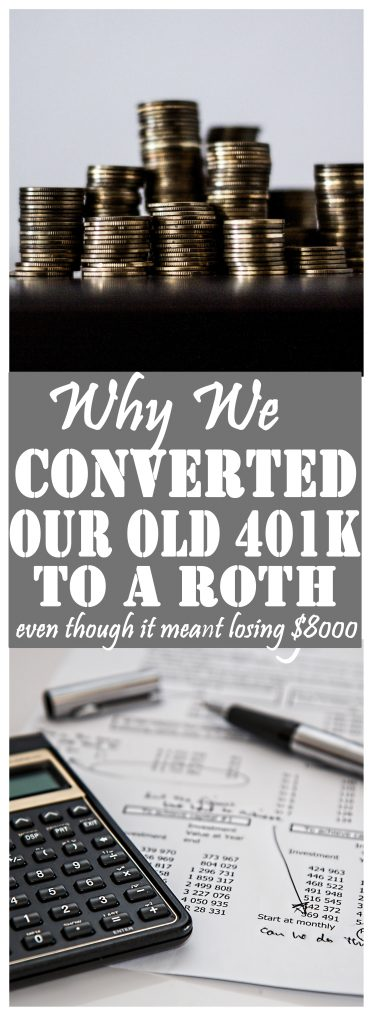Not sure what to do with your old 401k? Perhaps taking the tax hit now and converting to a Roth is your best bet for retirement in the long run! Here's why.