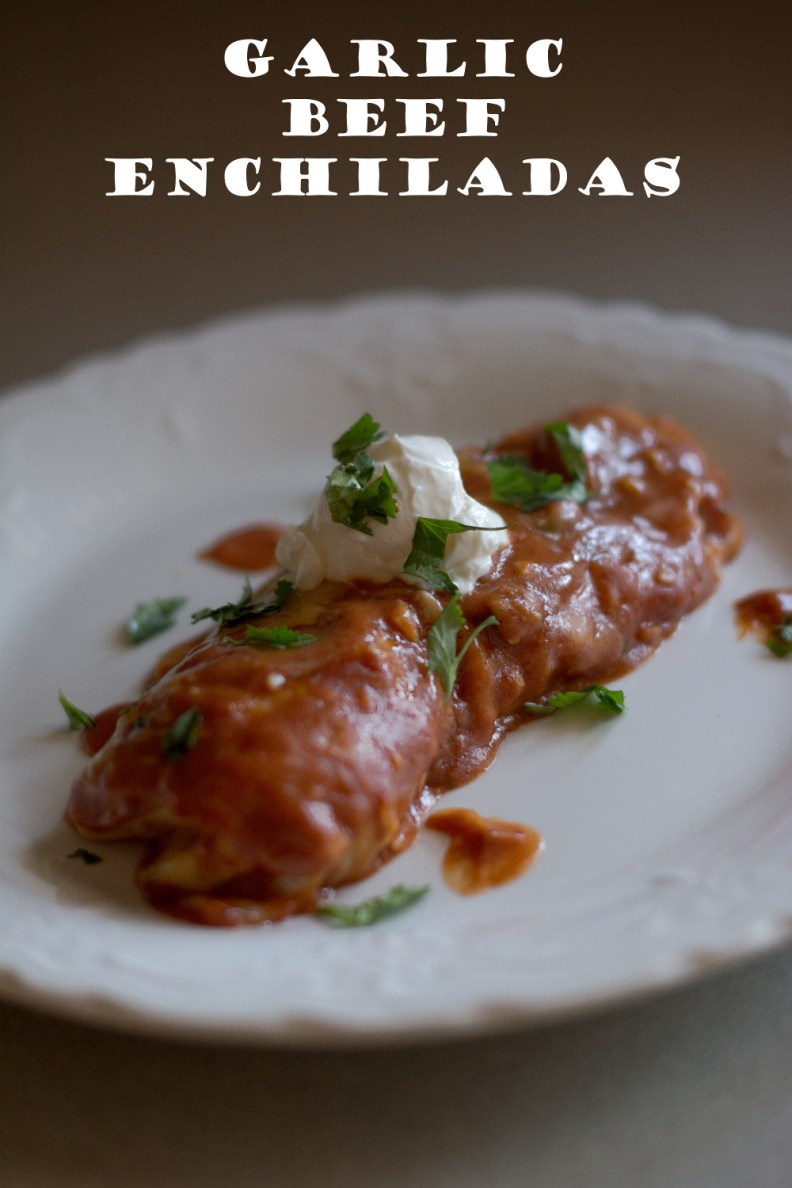 Garlic Beef Enchiladas // To Love and To Learn