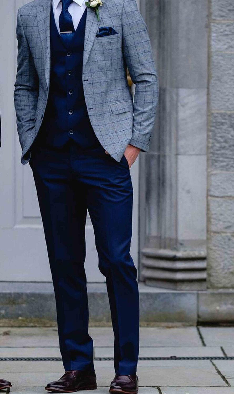 Maradonna Grey Check 3 Piece Suit  Tom Murphys Formal