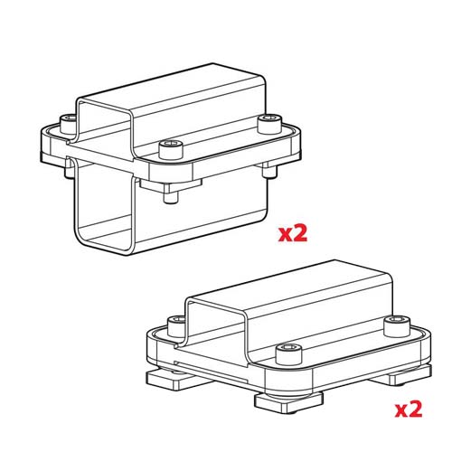Kargo Rack adaptor Set