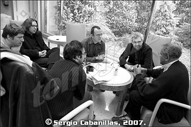 From right to left: Anthony Braxton, Fernando Ortiz de Urbina, Pachi Tapiz, Diego Sánchez Cascado, Arturo Mora and Lalo Lofoco © Sergio Cabanillas, 2007