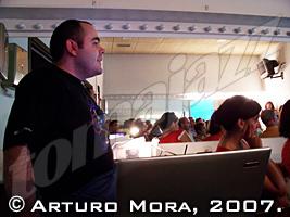 Sergio Cabanillas en plena clase magistral © Arturo Mora, 2007