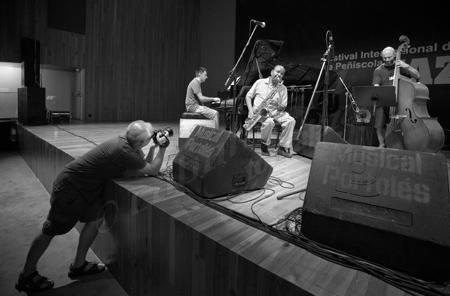 Antonio Porcar / Joan Monné / Benny Golson / Ignasi González, Peñíscola, 2013 © Sergio Cabanillas, 2013