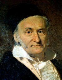 Oil painting of mathematician and philosopher Carl Friedrich Gauss by G. Biermann (1824-1908)