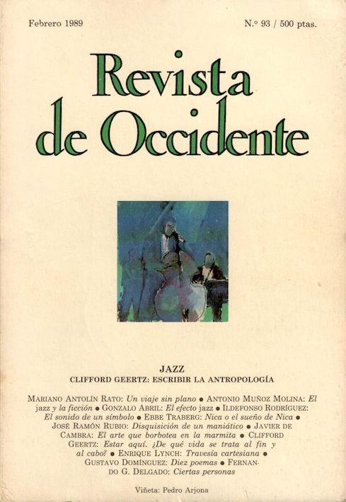 Razones para el jazz. Revista de Occidente, nº 93 (1989) [484]
