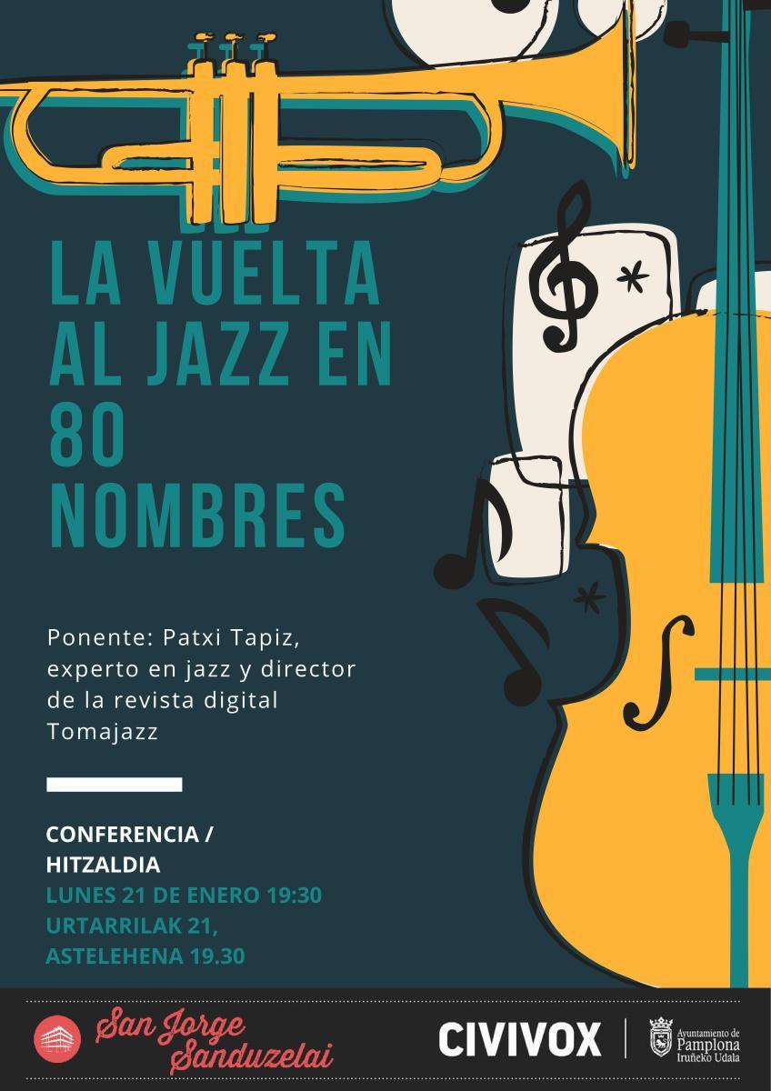 La vuelta al jazz en 80 nombres. Charla por Pachi Tapiz (Urtarrijazz. Un enero de jazz local. Civivox San Jorge, Pamplona. 21 de enero de 2019) [Noticias]