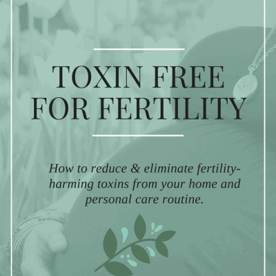 Reduce fertility harming toxins and chemicals to heal infertility and get pregnant