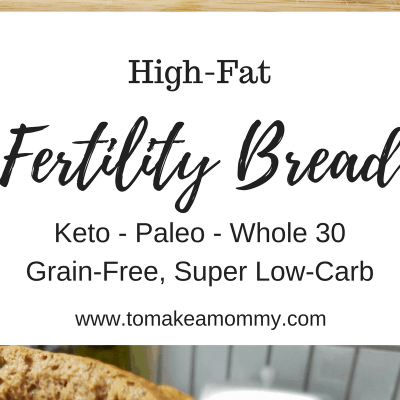 A delicious and easy fertility recipe that is high fat, low carb, and gluten free!