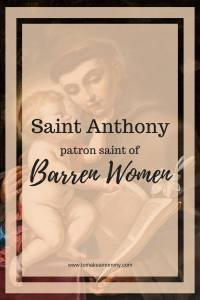 Praying with Saint Anthony of Padua, Patron Saint of Miracles, Lost Things, Barren Women, Pregnancy, Infertility, Fertility, and Trying to Conceive #fertility #infertility #catholicsaint #prayer #ttc