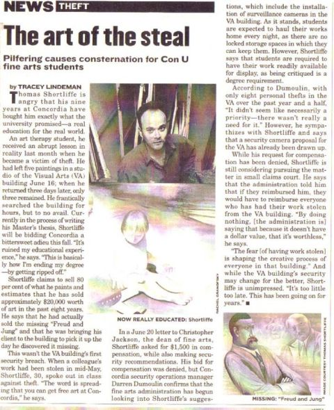 Press Mirror article art of the steal
