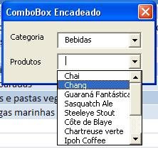 ComboBox Encadeados em Funcionamento
