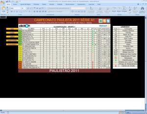 Tabela do Paulistão 2011