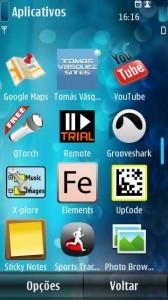 App no Menu do Symbian