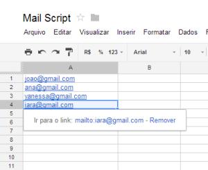 Email com link