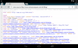 Chrome Android View Source