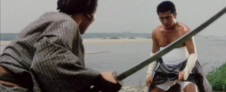 Zatoichi squaring off