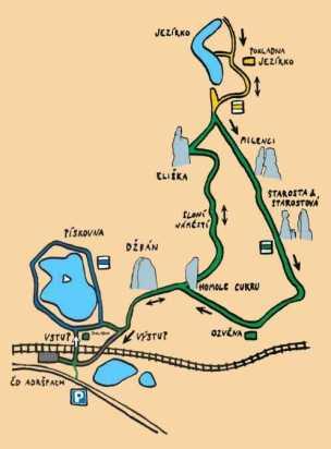 Adršpašské skály mapa
