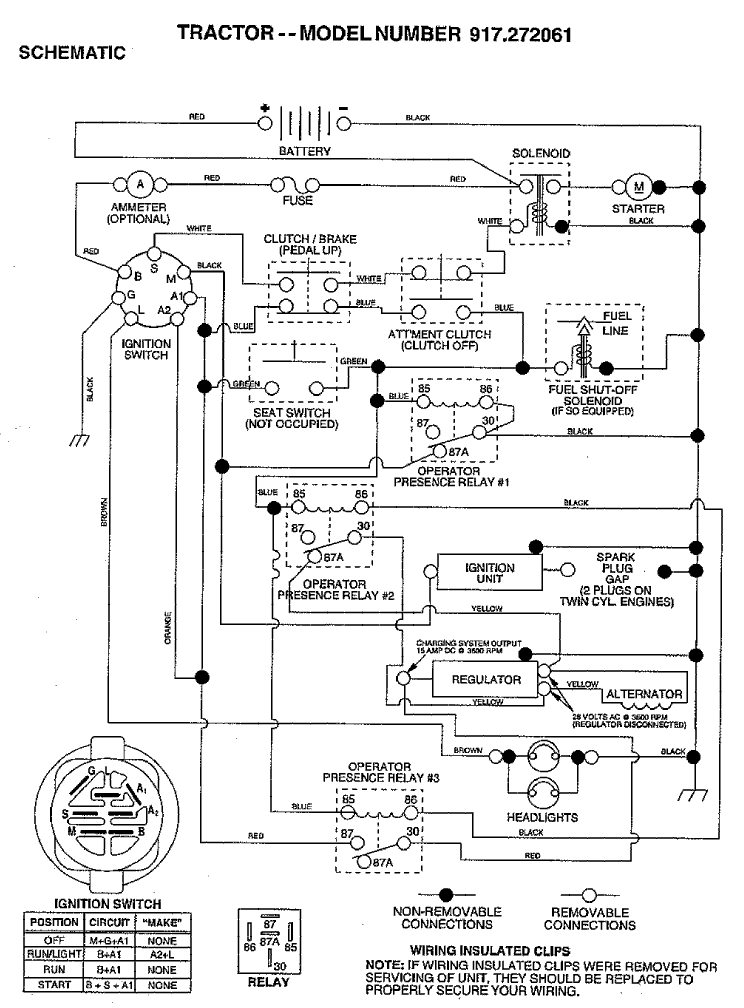 wiring diagram for craftsman lt1000