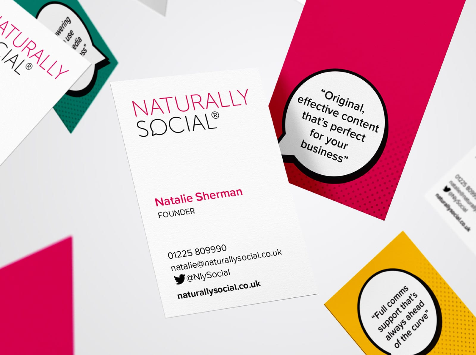 naturally social business cards