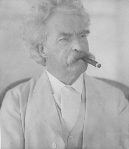 Mr. Twain Sucking the Life Out of a Defenseless Stogie