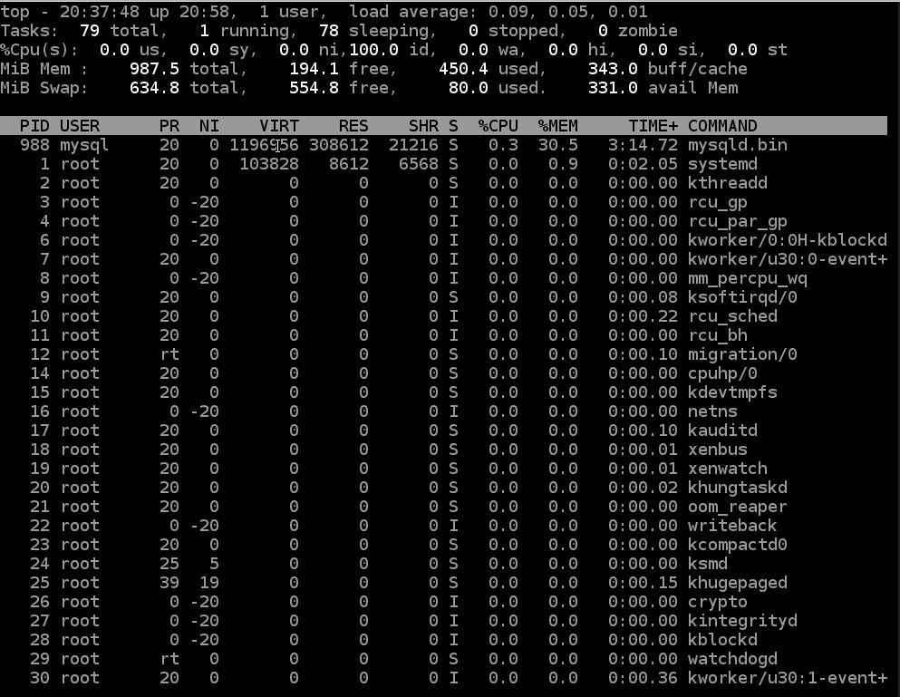 top linux process monitoring command