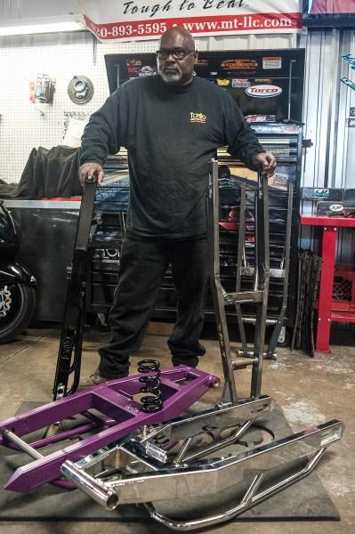 Tommy Bolton and Tombo Racing swingarms
