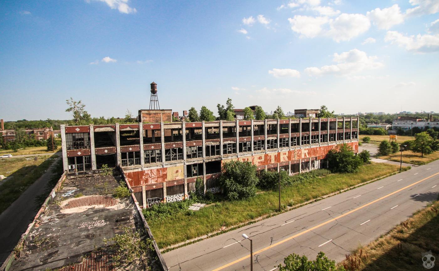パッカード自動車工場 デトロイト 廃墟