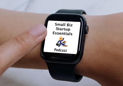 podcast logo on watch