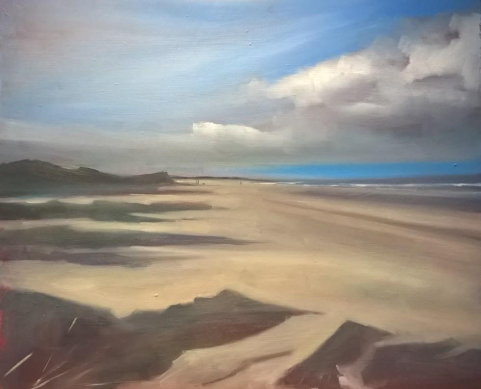 Holkham Beach small oil sketch