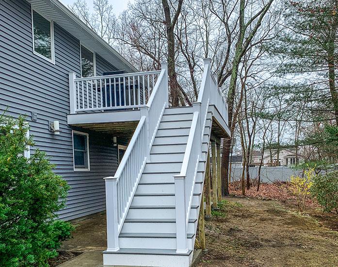 elevated composite deck over concrete