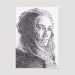 Cersei Lannister Sketch Card by Tom Deacon