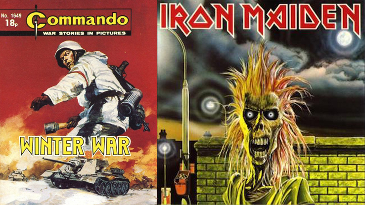 Commando Comics and Iron Maiden's 'Eddie' were a source of inspiration.