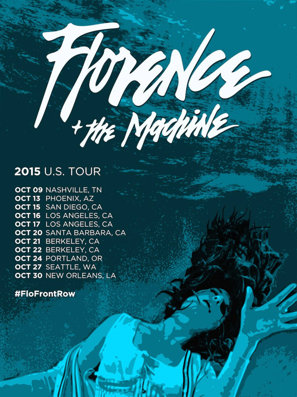 Florence and the Machine Tour Poster by Tom Deacon