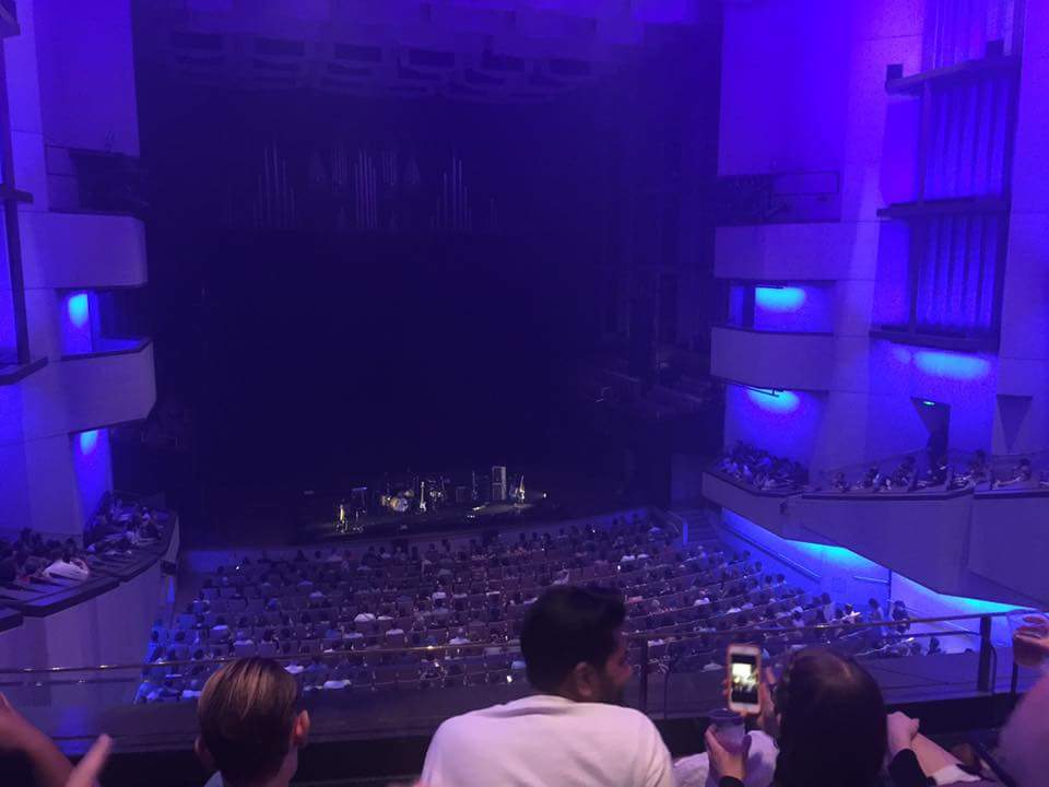 View from the balcony at QPAC Concert Hall