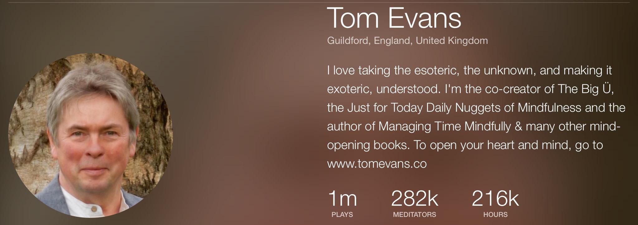 Tom Evans on Insight Timer